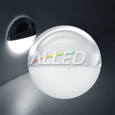12V Cool White LED Half Round Courtesy Light Outdoor/Garden/Step/Deck Lamp