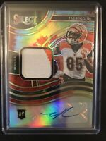 2020 Panini Select Tee Higgins RPA Rookie Patch Auto Tie-Dye /25 Bengals RC