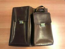 Michelin pochette porte guide / cartes en cuir brun