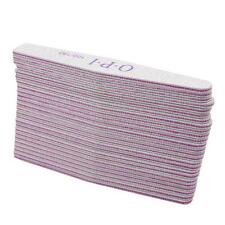 25 x White Nail Files Sanding 100/180 Diamond for Nail Art Tips Manicure JJ
