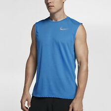Nike M Men's Dri-Fit BREATHE Miler Running Sleeveless Tank NEW 903241 435 Blue