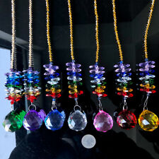Rainbow Clear Crystal Pendant Fengshui Faceted Prism Ball Wedding Suncatcher DIY