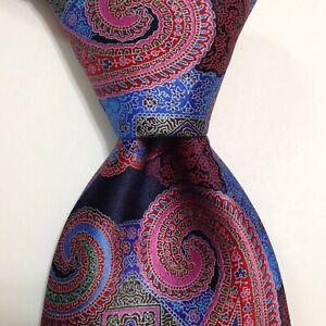 ERMENEGILDO ZEGNA QUINDICI Silk Necktie ITALY Luxury PAISLEY Multi-Colored NEW