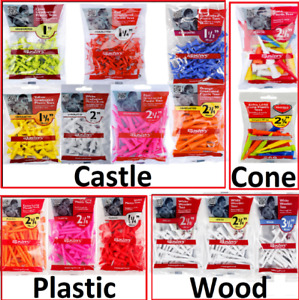 MASTERS Golf - No:1 Tee Supplier - Castle - Straight - Cone- Plastic - Wood