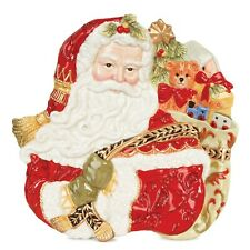 Fitz & Floyd Christmas Plate - Damask - Very Rare - Nib