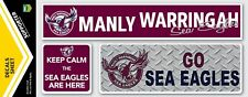 Official Manly Sea Eagles NRL iTag UV Car Window Decal Sticker Sheet (3 Pack)