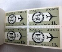 Canal Zone 11c Airmail Booklet Eleven Cent 4 Mint Stamps