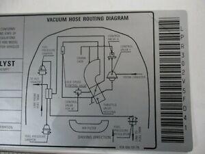 PORSCHE 928 ENGINE BAY EMISIONS VACUUM DATA DECAL NEW GENUINE READ LISTING