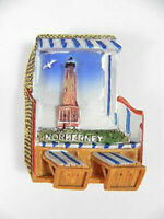 Strandkorb Magnet Norderney Poly 3D,Souvenir Germany Deutschland,neu