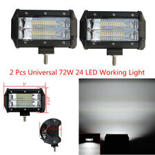 2pcs 5'' 72W 24 LED Car Off Road Work Light Bar Flood Driving Light with Bracket