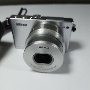 Excellent+ Nikon 1 J4 Silver camera w/10-30mm PD VR lens Touchscreen DSLR