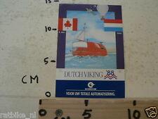 STICKER,DECAL DUTCH VIKING 1988 ST'JOHNS - ALMERE ECONOCOM AUTOMATISERING