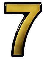 3D Zahlen-Aufkleber Gold 1x Nummer 7-900077 Edle Türschilder Hausnummern