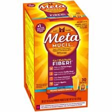 Metamucil MultiHealth Fiber Powder Packets Sugar Free, Orange Smooth, 30Ea