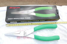 NEW SNAP ON  96ACF NEEDLE NOSE GREEN HANDLE LARGE DISPLAY PLIERS 24 IN LONG