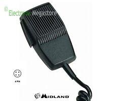 Midland MDL4190 Microfono CB a 4 Pin - Nero