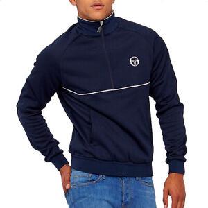 Sergio Tacchini Orion Mens 1/2 Half Zip Sweatshirt Navy Blue Track Top