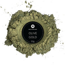 MEYSPRING Olive Gold Mica Powder for Epoxy - Two Tone Resin Color Pigment