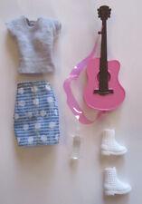 Barbie Girls Musician Doll Original Outfit Guitar Clothes Shirt Skirt Boots