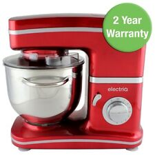 Electriq 1500W Pro Electric Food Stand Mixer & Splash Guard In Stunning Red