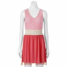 XS Juniors Dress NEW NWT Pink & Ivory SPEECHLESS 8th Grade Graduation X SMALL 1