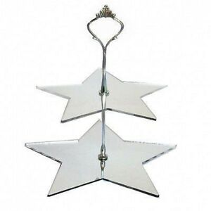 Two Tier Star Cake Stand - Available in a Range of Colours
