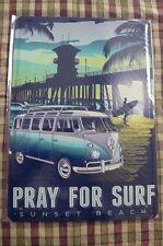 VW Camper Van Tin Metal Sign Painted Poster Wall Art Office Hobby Shop Garage