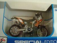 MINIATURE MOTO MAISTO MAIS39300  KTM 450 RALLY 1/18 NEUVE EN BOITE