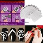 12 sheet New French Manicure Nail Art Tips Form Guide Sticker Polish DIY Stencil