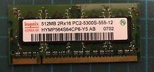 Hynix ram 512Mb 2Rx16 PC2-5300S 555 12 HYMP564CP6 Y5 AB SO DIMM DDR2 667