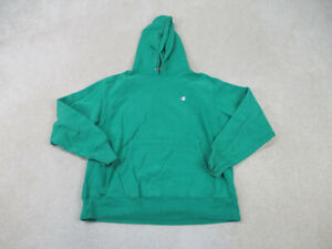 VINTAGE Champion Sweater Adult Large Green Hoodie Reverse Weave Mens 90s A11