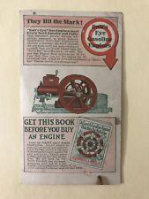 Postcard Sales Brochure Bull's Eye Bullseye Jacobson Hit Miss Gasoline Engine