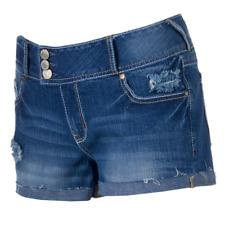 Junior's Amethyst Destructed Cutoff Shortie Shorts  size 9