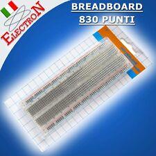 BASETTA SPERIMENTALE 830 CONTATTI PUNTI FORI BREADBOARD Tie-points ARDUINO PIC