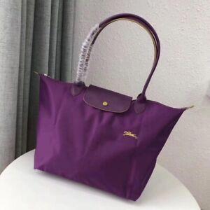 Longchamp Le Pliage Tote Bag Große Damentasche langen Henkeln Handtasche Lila