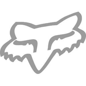 Fox Head Aufkleber Sticker grau Größe: 10cm x 8cm
