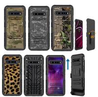 For LG V60 ThinQ Hybrid Belt Clip Case Tree Camo, ACU Gray, Multicam, Tire