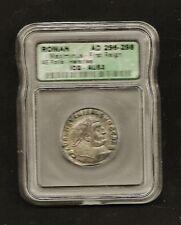 Roman AD 296-298 maximinus - First Reign ae follos - huraciea icg- AU53 (SILVER)