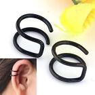 2PCS Unisex Fashion Punk Rock Ear Clip Cuff Wrap No piercing-Clip On Earring