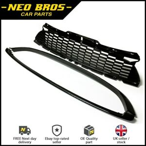 Gloss Black 3 Piece Grille Kit for Mini R55 R56 R57 R58 R59 Cooper S & JCW