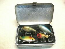 Vintage Umco Model P-9 Fishing Tackle Box - Vintage Lures - Nice Condition.