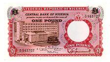 Nigeria . P-8 . 1 Pound . Nd(1967) . *Xf-Au*