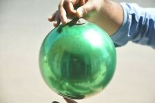 Vintage 7.50'' Green Heavy Glass Original Kugel/Christmas Ornament, Germany