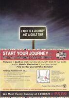 MOSAIC MANHATTAN CHURCH UNITED STATES ADVERTISING UNUSED COLOUR POSTCARD