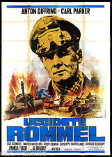 UCCIDETE ROMMEL! MANIFESTO CINEMA TARANTELLI GUERRA 1969 WAR MOVIE POSTER 4F