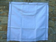 French white linen  vintage euro sham pillow case monogram