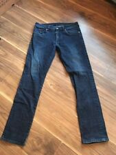 FABRIC STRAIGHT LEG JEANS DARK BLUE SIZE 32/32