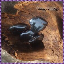 4 Perles Coeur Hématite 20 mm - Percé de droite a gauche