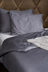 Bamboo double size bed linen set. 100% bamboo. Cool grey. Antibacterial.