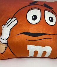 M&M's World Orange Please Don't Make Me Do Stuff Pillow Plush New with Tag